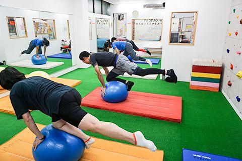 体幹トレーニング風景
